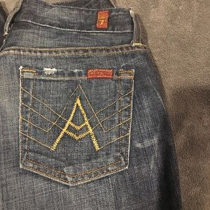 7 for all Mankind A Pocket Flare 26 bootcut Jeans